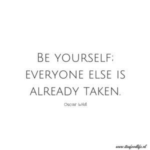 Be yourself, everybody else is already taken | It's a Food Life