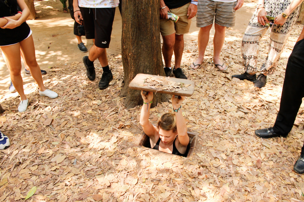 Ingang Cu Chi tunnels, Vietnam - It's a Food Life