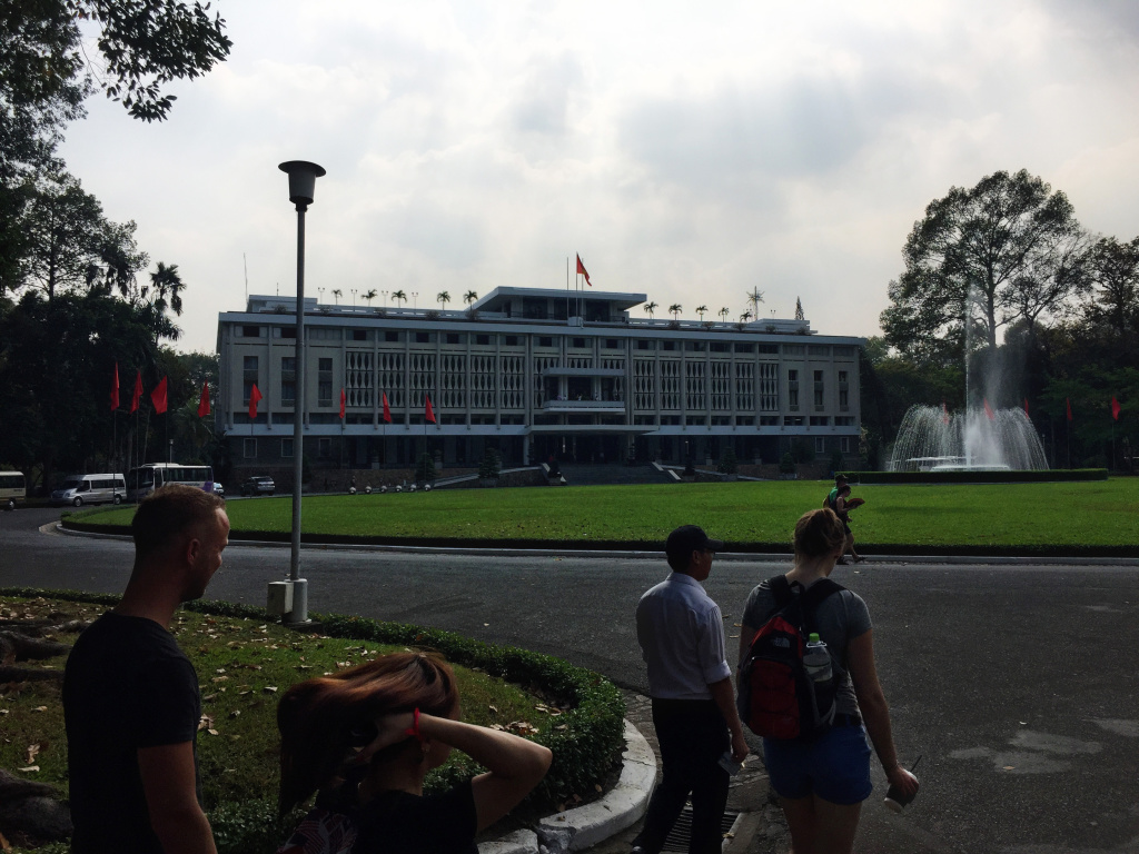Reunification palace in Ho Chi Minh City, Vietnam - It's a Food Life