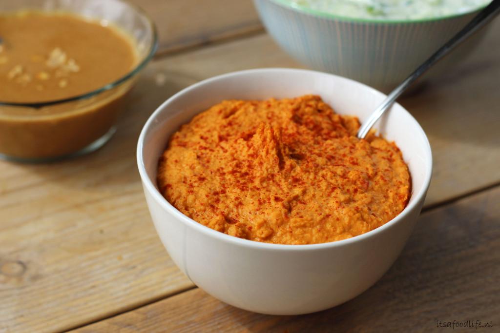 hummus, 3x (dip) sauzen voor bij de BBQ | It's a Food Life