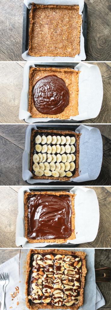 Chocolade bananentaart met geroosterde amandelen | It's a food life