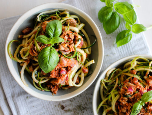 Recept voor Courgetti met tonijn-tomatensaus | It's a Food Life