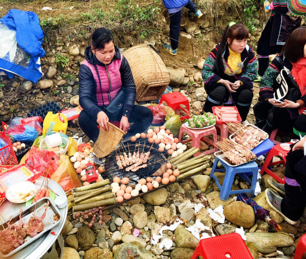 Farmers festival food in SaPa, Vietnam - It's a Food Life