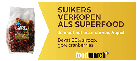 Foodwatch Gouden Windei 2015 cranberries