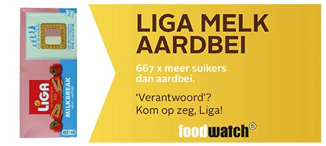 Foodwatch Gouden Windei 2015 liga melk-aardbei
