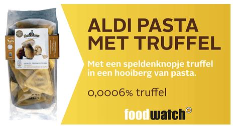 Foodwatch Gouden Windei 2015 pasta met truffel