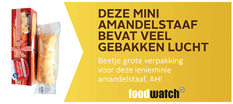 Foodwatch Gouden Windei 2015 roomboter amandelstaaf