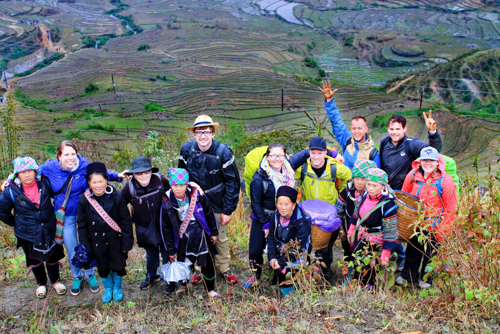 Hiking Group in SaPa, Vietnam - It's a Food Life