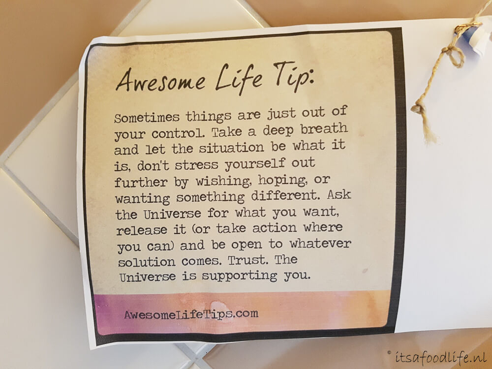 Quote: Awesome Life Tips | It's a Food Life