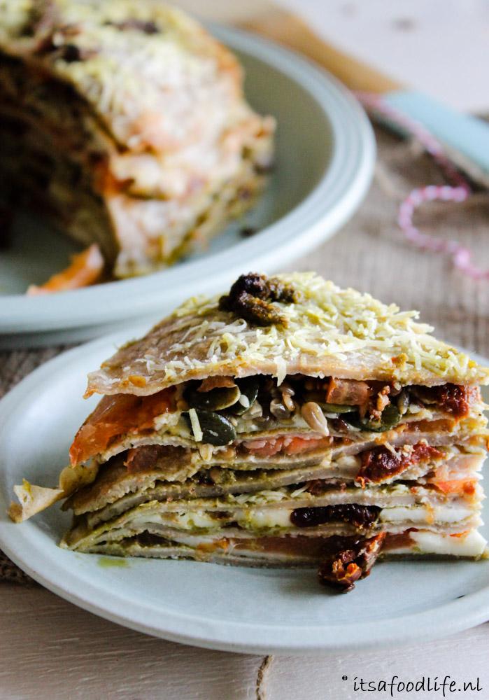 Italiaans gevulde pannenkoeken-taart | It's a Food Life