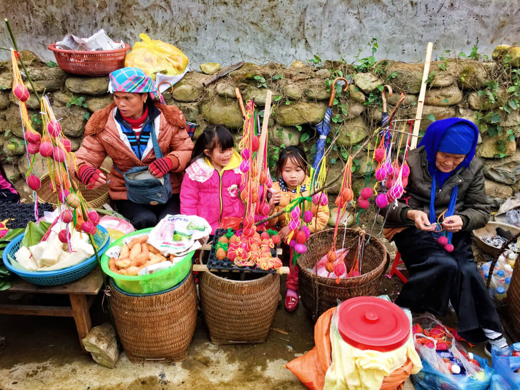 Local market in SaPa, Vietnam - It's a Food Life