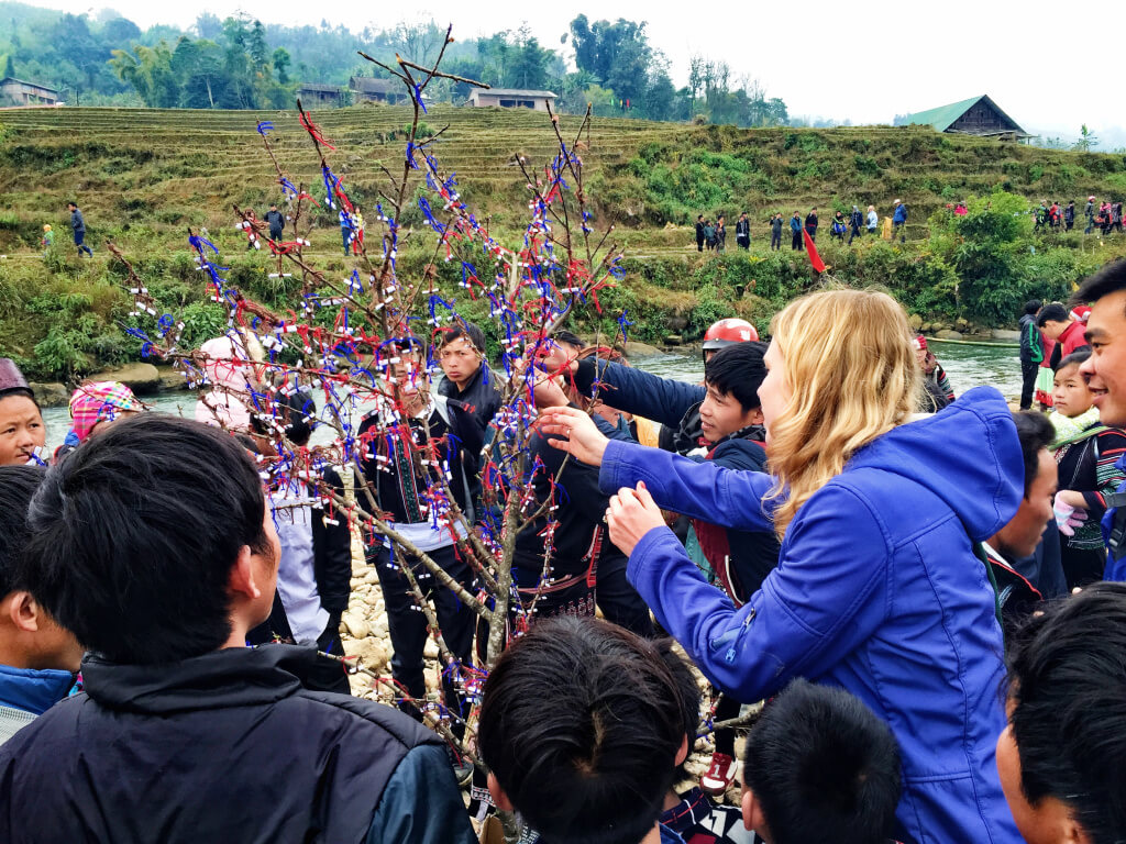 Lucky tree in SaPa, Vietnam - It's a Food Life