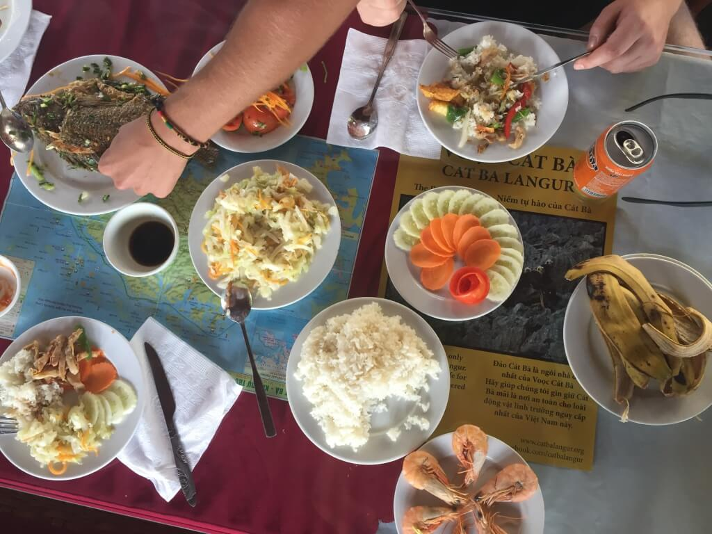 Lunch on a boat - Halong Bay, Vietnam - It's a Food Life