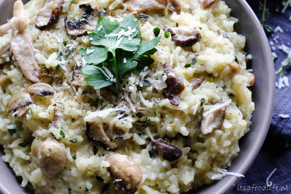 Recept voor makkelijke paddenstoelen rissoto | It's a Food Life