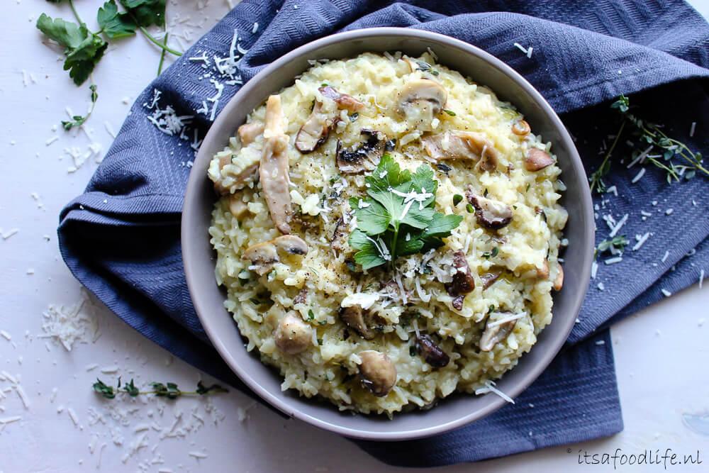 Recept voor makkelijke paddenstoelen risotto | It's a Food Life