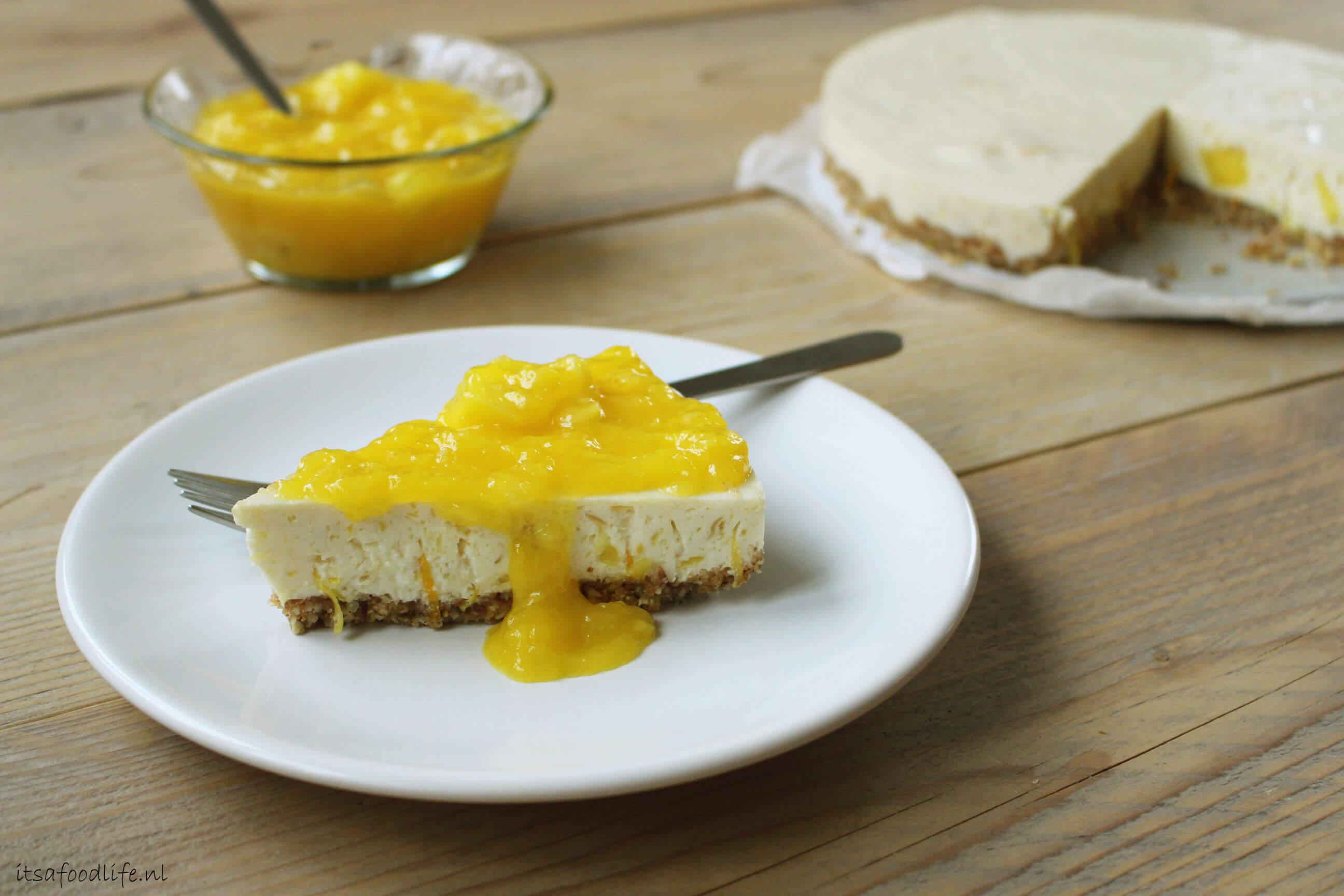 Ontbijt Mango kwarktaart met agar agar | It's a Food Life