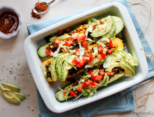 Koolhydraatarme simpele Mexicaanse gevulde courgette bootjes   It's a Food Life