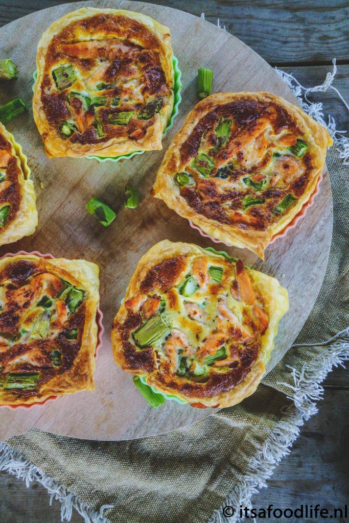 Mini quiches zalm en asperges - It's a food life