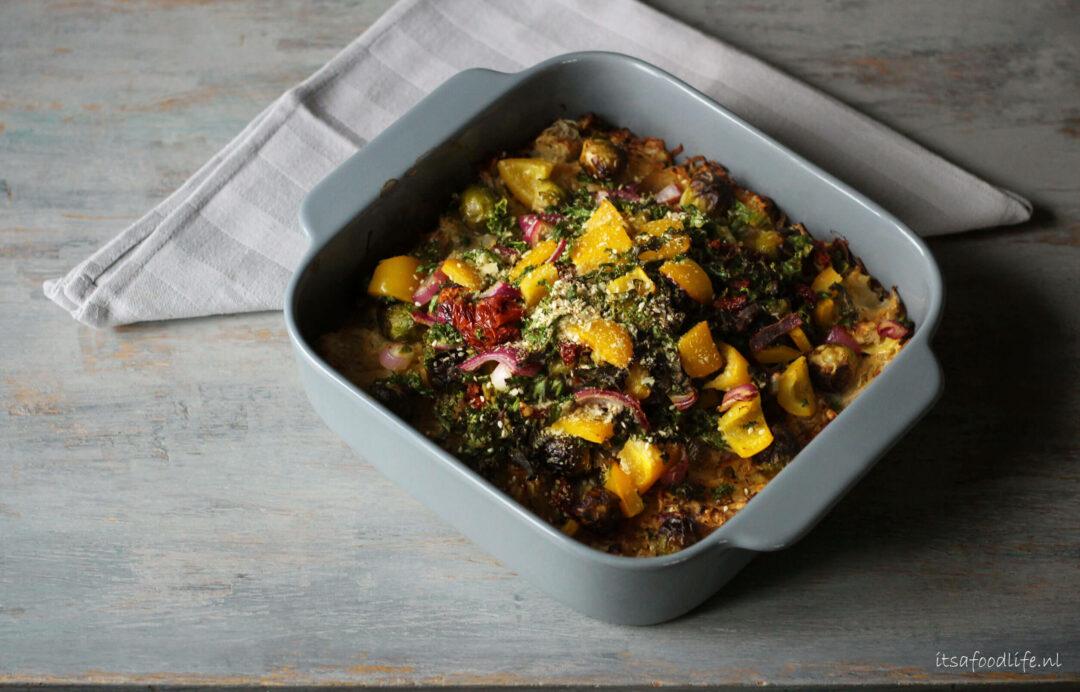 Ovenschotel van rosti, zuurkool en spruitjes | It's a Food life