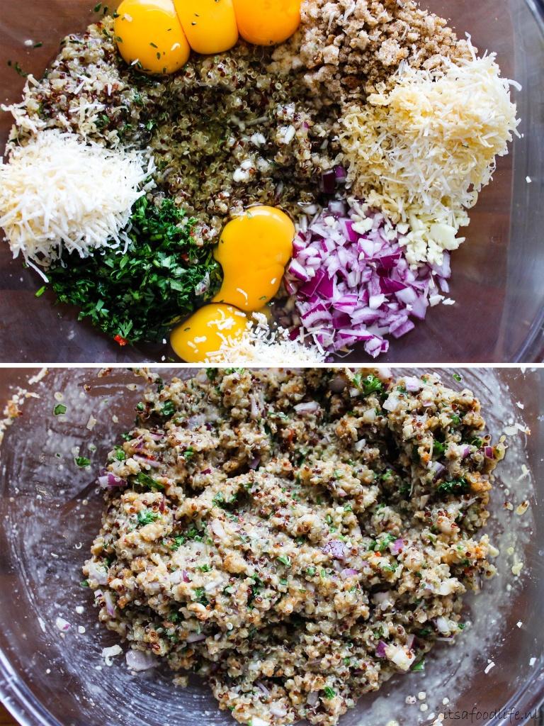 Quinoa koekjes met knoflook en kruiden | It's a Food Life