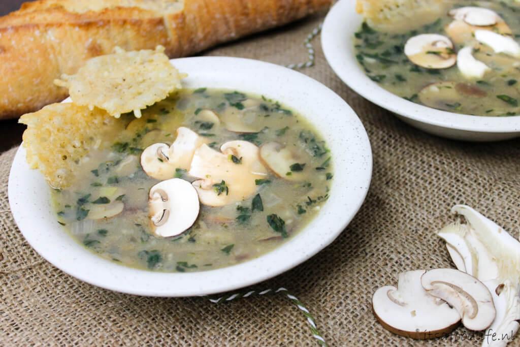 Recept voor Italiaanse paddenstoelensoep met marscarpone | It's a Food Life