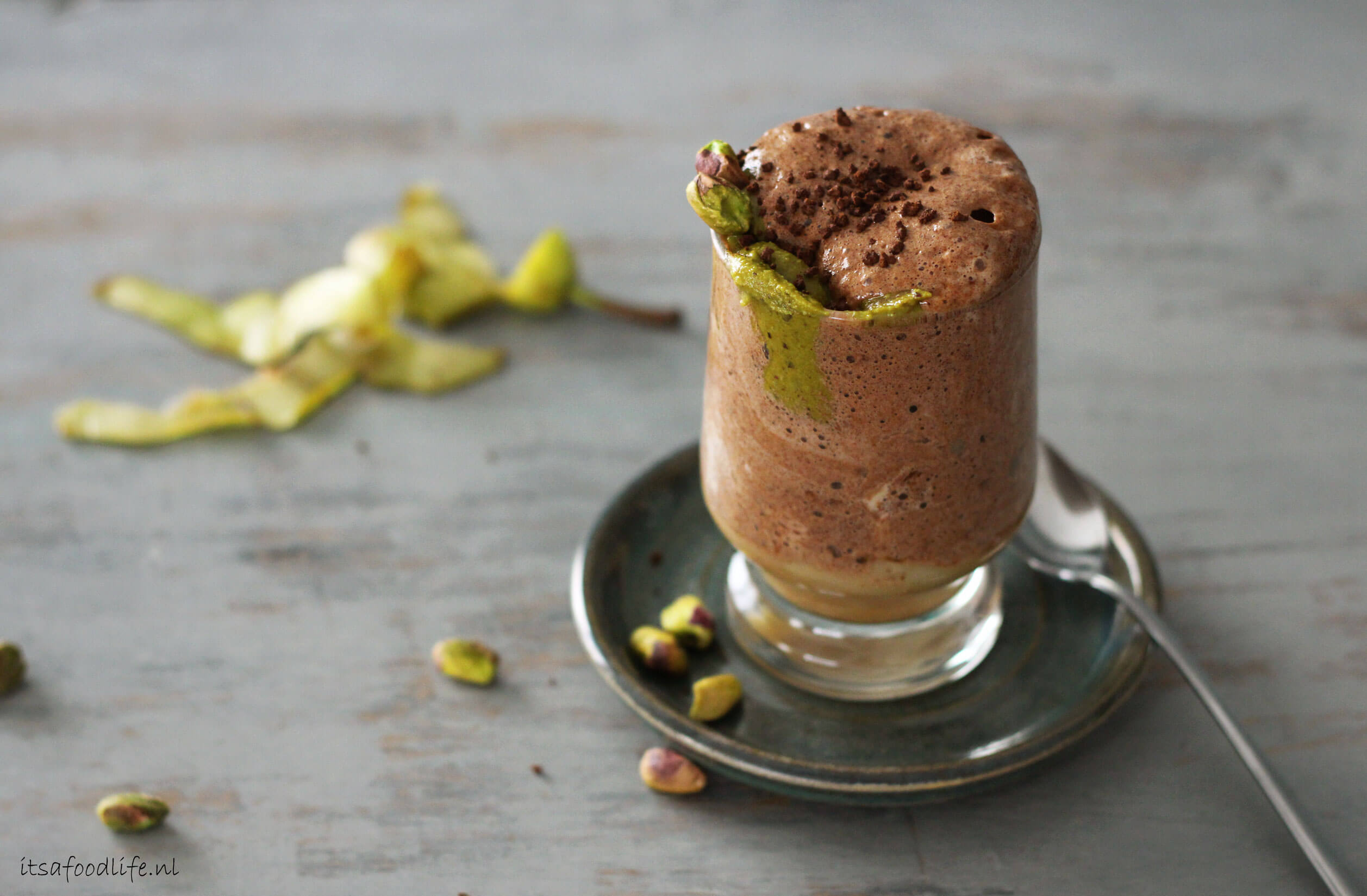 recept voor vegan mokka chocolademousse | It's a Food life