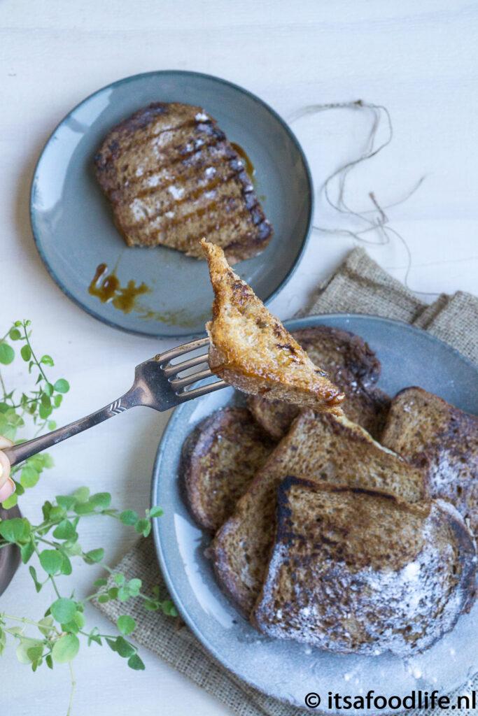 Makkelijk basisrecept gezonde volkoren wentelteefjes - It's a food life