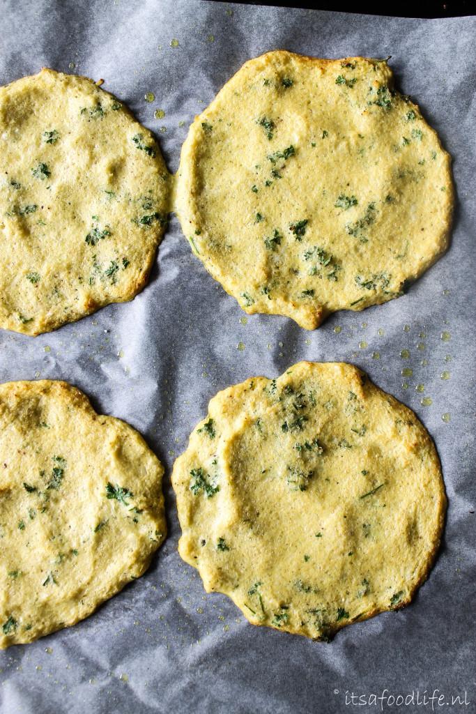 koolhydraatarm bloemkool tortillas / bloemkoolwrap met pittig gekruid gehakt | It's a Food Life
