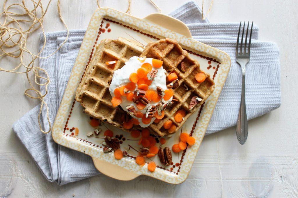 carrot cake wafels