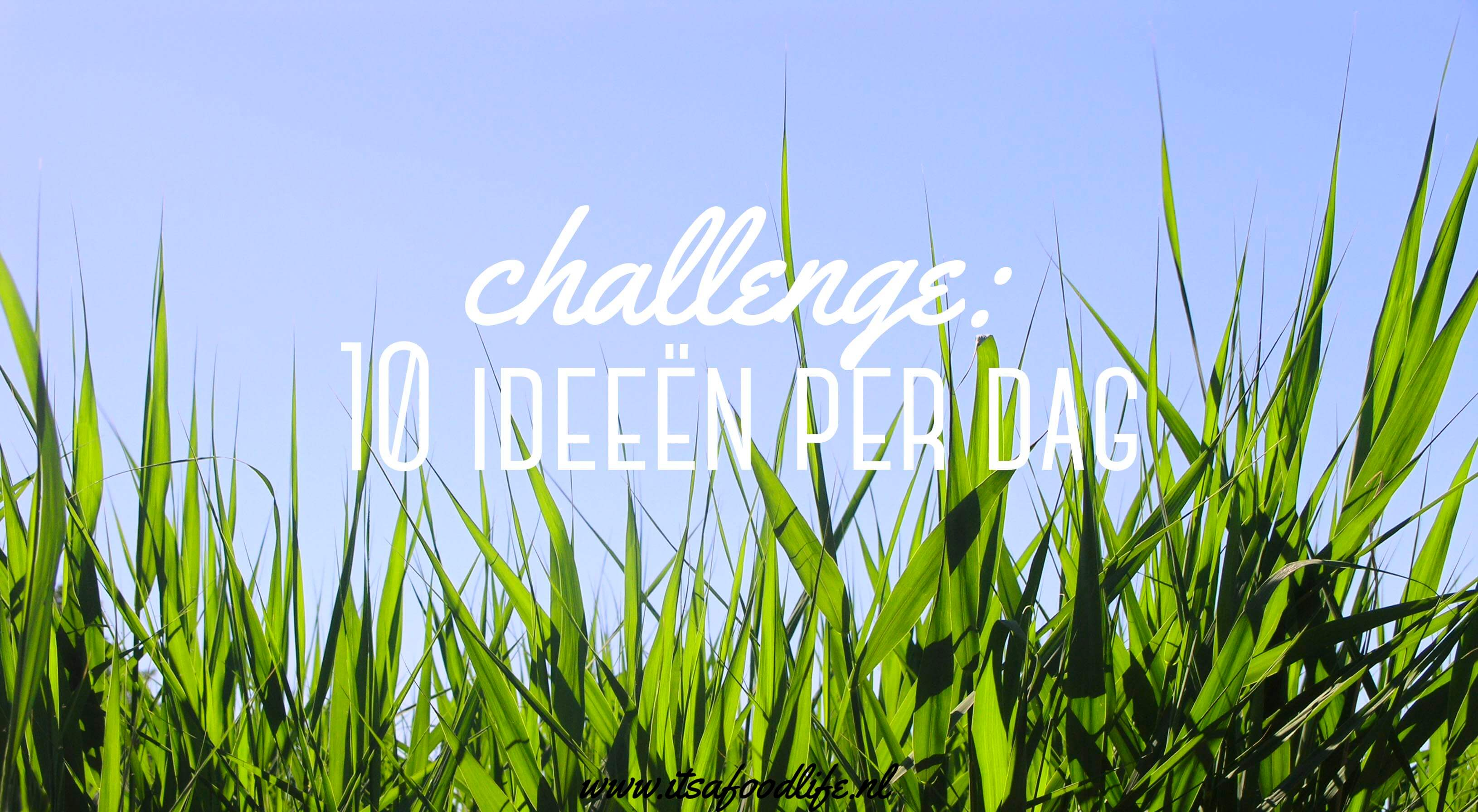 challenge 10 ideeën per dag | It's a Food Life