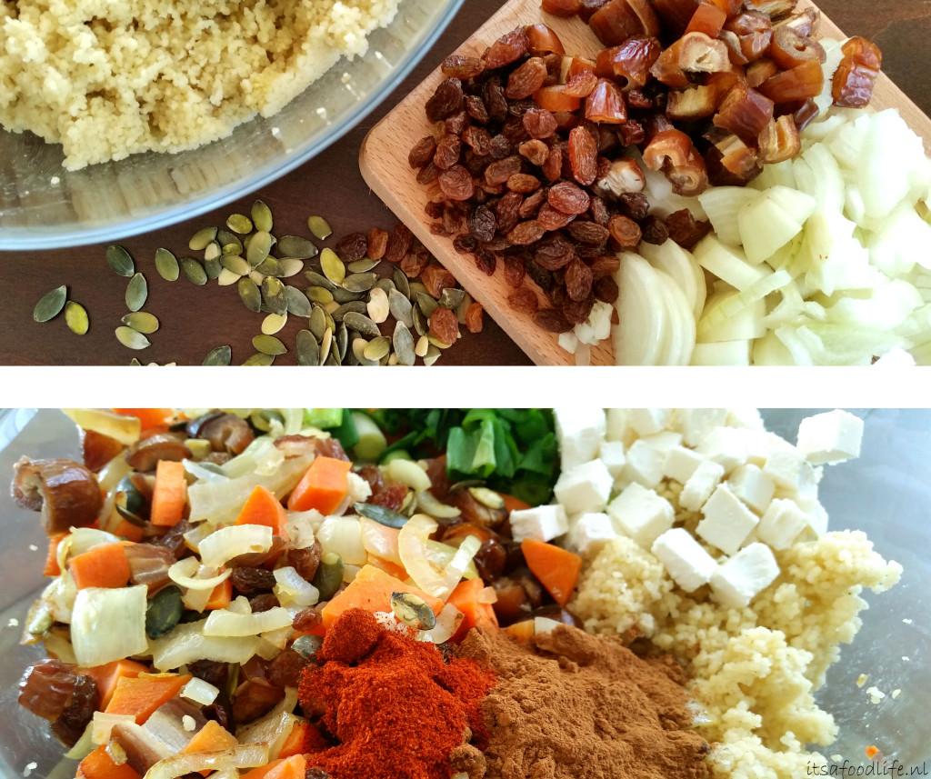 Koningsdag recept: Vegetarisch gevulde Oranje paprika met couscous, rozijnen en dadels | It's a Food Life
