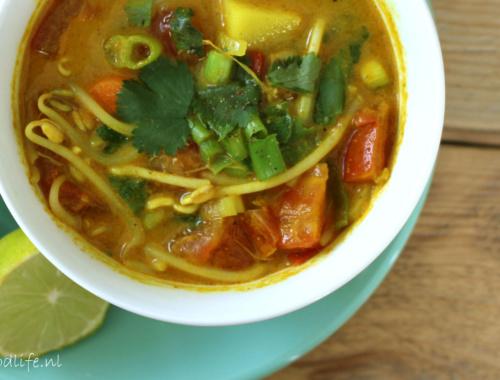 Recept voor Veganistische Currysoep | It's a Food Life