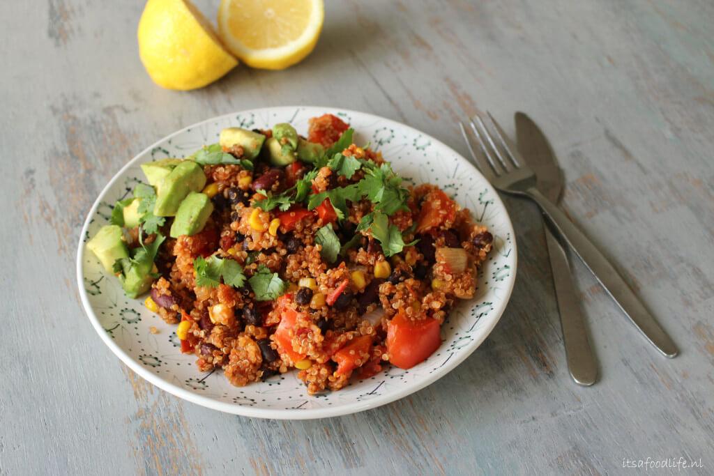 eenpans mexicaanse quinoa | It's a Food Life