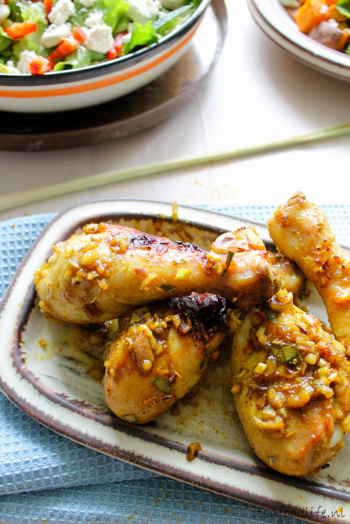 kipdrumsticks met Aziatische marinade - It's a Food Life