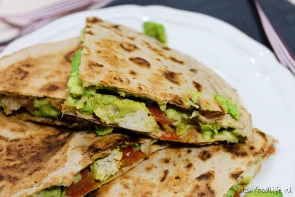 3 recepten voor quesadillas met kip,avocado en tomaat | It's a Food Life