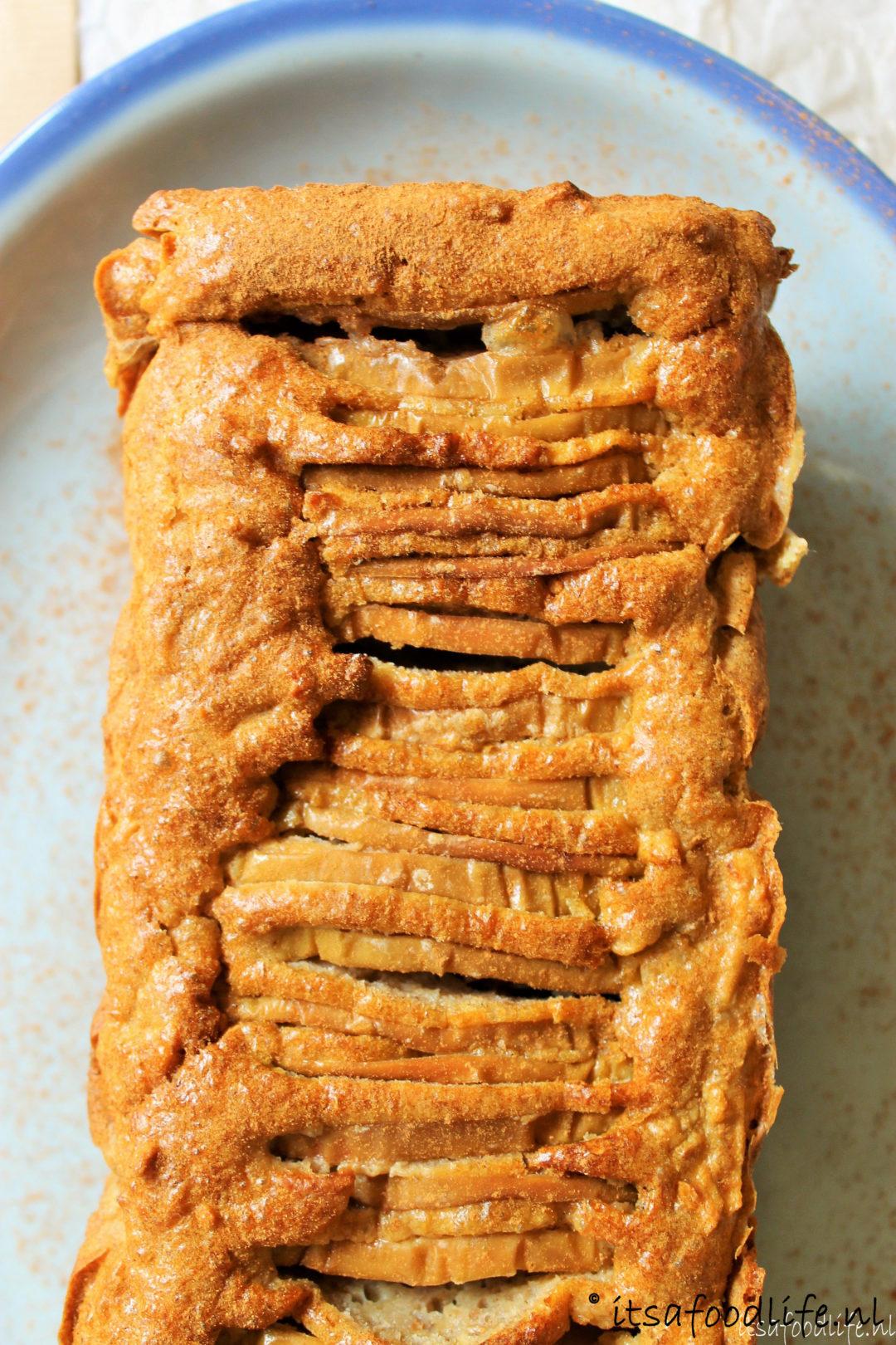recept voor suikervrije appel peren cake