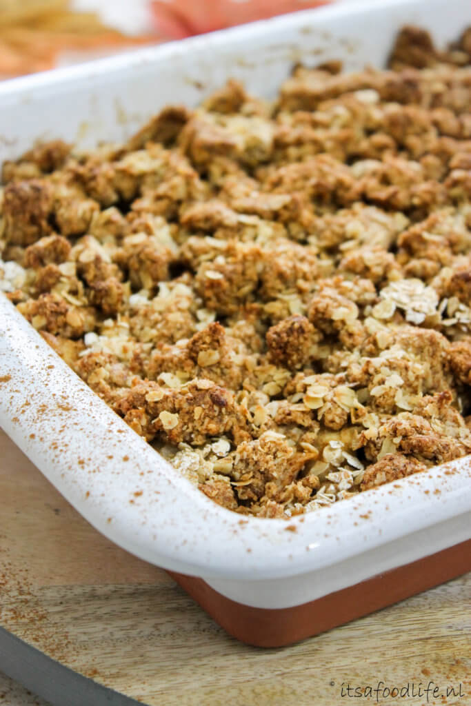 Recept voor appel peren speculaas crumble | It's a Food Life