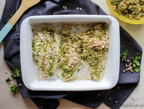 Recept voor gepaneerde pesto witvis met kruidige quinoa salade   It's a Food Life