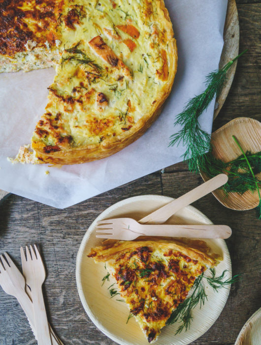 Recept voor quiche met zalm en ricotta | It's a food life